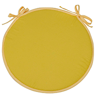 cojín redondo amarillo