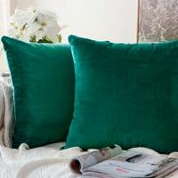 cojín verde esmeralda