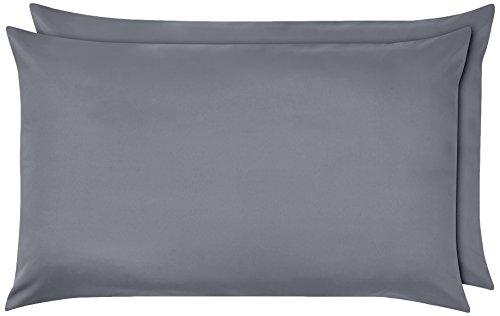 Funda de almohada de microfibra Gris oscuro