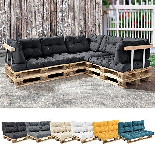 Cojín acolchado para Respaldo de sofá, color Gris Oscuro