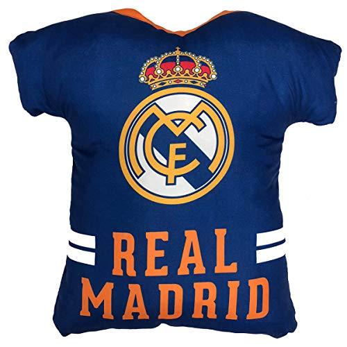 Cojín con forma de Camiseta del Real Madrid, Color: Azul