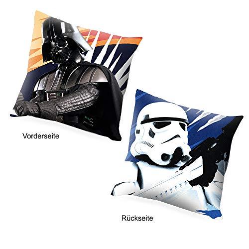 Cojín de 40x40cm de Star Wars. Imágenes diferentes en cada cara