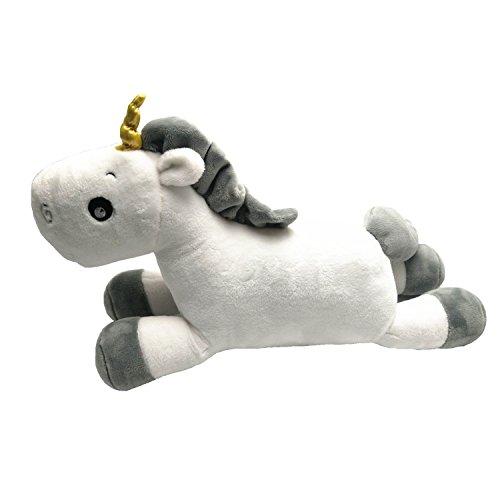 Cojín de peluche con diseño de unicornio, de color blanco