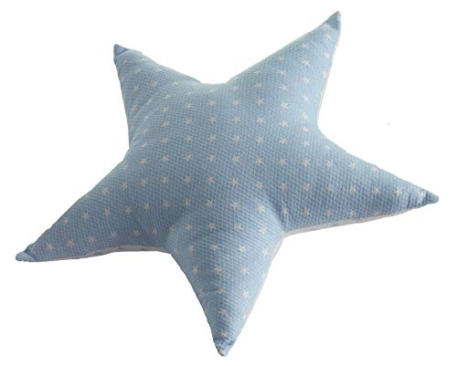 Cojín infantil de piqué con forma de estrella