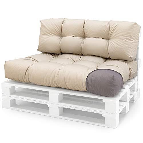 Cojín para asiento de exterior - funda desenfundable, Impermeable Beige Asiento