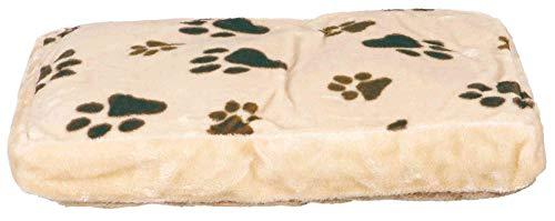 Cojín para perros de 60x 40cm, Beige/marrón Oscuro
