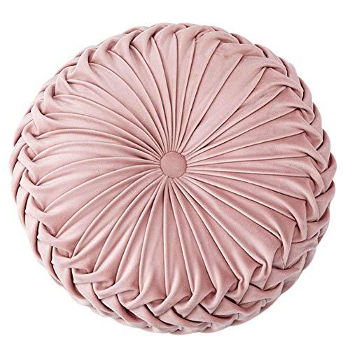 Cojín Redondo de Terciopelo color Rosa
