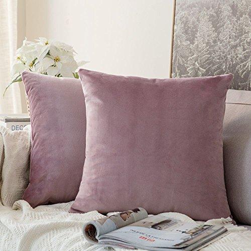 Funda de cojín para sofá o Dormitorio Rosado Morado - Pack 2ud.