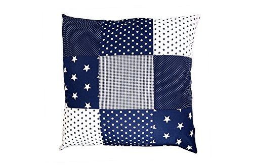 Cojín con estrellas azules 60x60