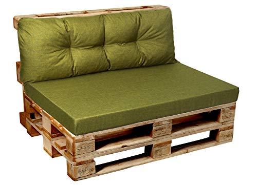 Garden Factory Cojines para sofá-palé europalé, Cojin de Asiento, Cojin de Respaldo, Set, Acolchados, Plano