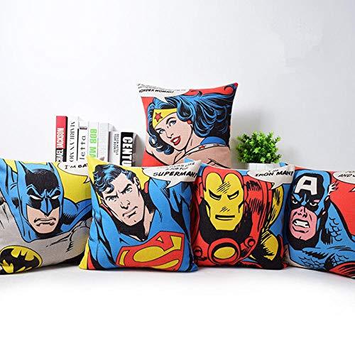 Juego de 5 fundas de cojín de SuperHéroes