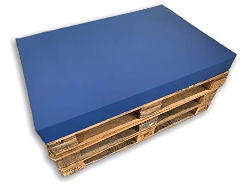 MICAMAMELLAMA Asiento Cojín de Espuma para sofá Exterior de Palet con Funda (80x120x12) (Funda Nautica, 80x120x12)
