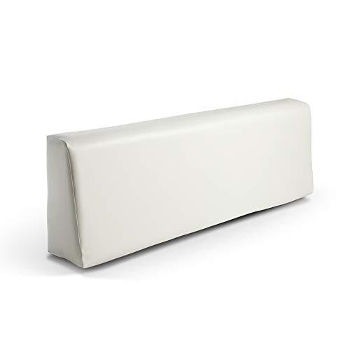 SUENOSZZZ - Respaldo colchoneta para Sofas de Palet Color Blanco (1 x Unidad) Cojin Relleno con Espuma | Cojines para Chill out, Interior y Exterior, Jardin | No Incluye Palet