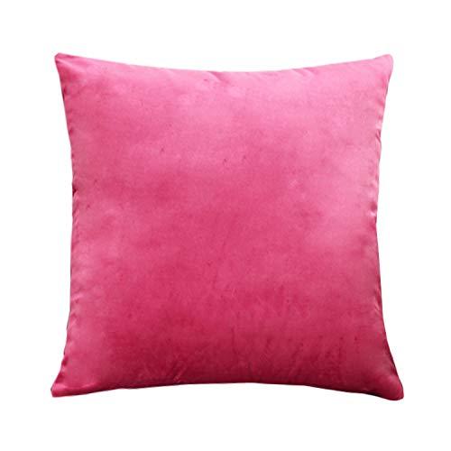 Cojín rosa de terciopelo