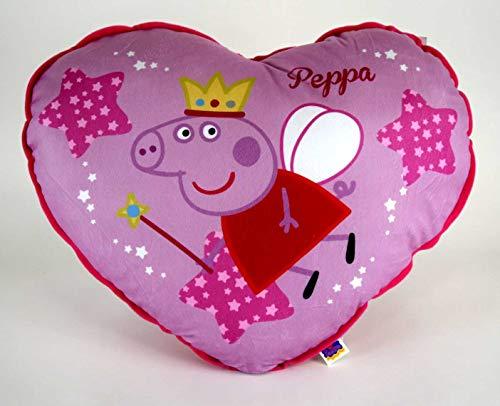 Peppa Pig - Cojín con forma de corazón